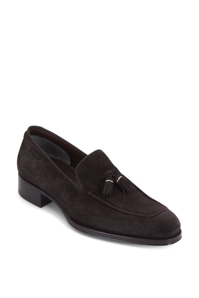 Tom Ford - Edgar Dark Brown Suede Tassel Loafer
