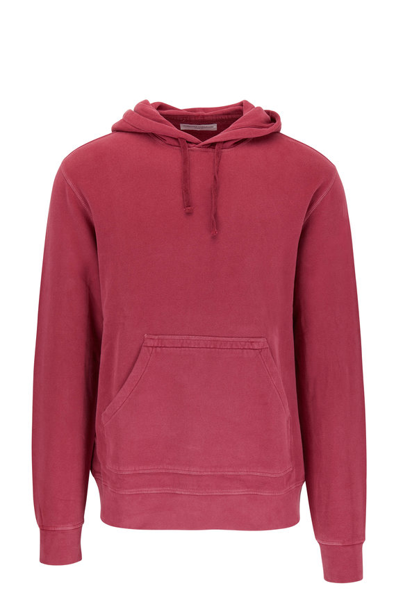 Officine Generale Oliver Framboise Pigment Dyed Hoodie
