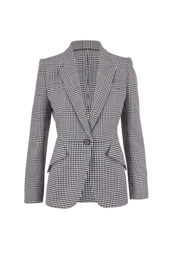 Alexander McQueen Black & White Prince Of Wales & Houndstooth Jacket