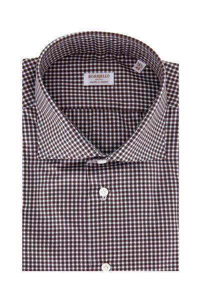 Borriello - Brown Plaid Dress Shirt