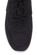 Tod's - Black Perforated Suede Lace-Up Sneaker