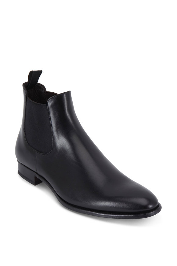 To Boot New York Shelby Black Leather Chelsea Boot