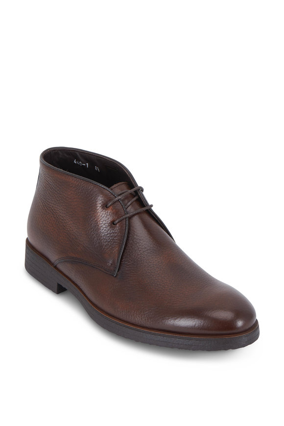 To Boot New York Calder Cognac Burnished Leather Chukka Boot