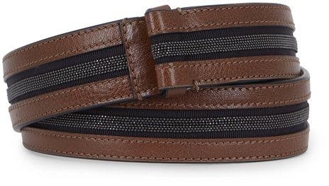 Brunello Cucinelli Caribou Brown Monili Center Belt