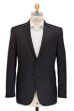 Ermenegildo Zegna - Trofeo Charcoal Gray Ticweave Suit