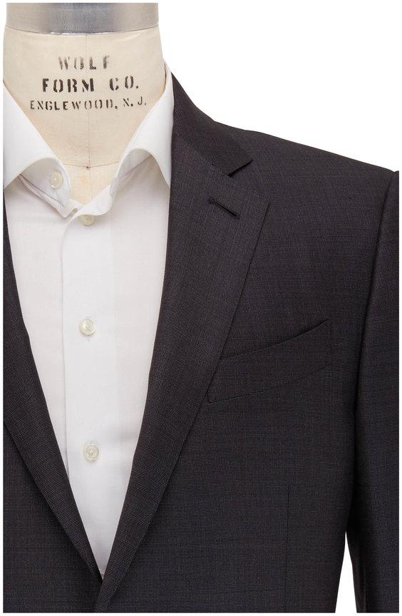 Ermenegildo Zegna Trofeo Charcoal Gray Ticweave Suit