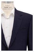 Canali - Navy Blue Tonal Windowpane Wool Suit