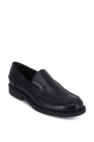 Tod's - Black Smooth Leather Loafer