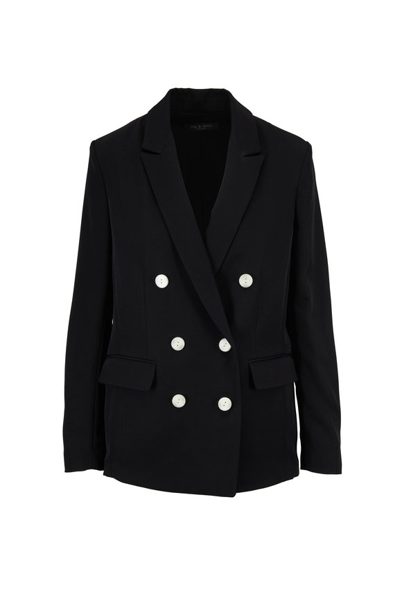Rag & Bone Tia Black Double-Breasted Blazer