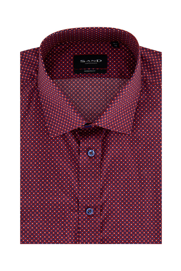 Sand Staten Berry Geometric Modern Fit Sport Shirt