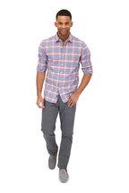 Faherty Brand - Ventura Red & Blue Plaid Sport Shirt