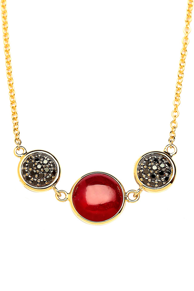 Chakra Yellow Gold Ruby Reverse Necklace