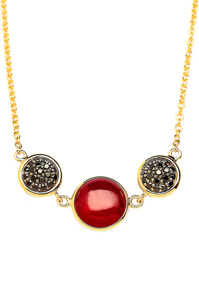 Syna - Chakra Yellow Gold Ruby Reverse Necklace