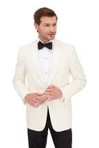 Brioni - White Wool Single Button Dinner Jacket