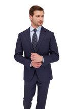 Ermenegildo Zegna - Navy Blue Geometric Silk Necktie