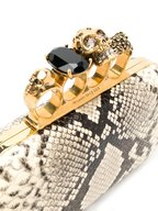Alexander McQueen - Natural Python Four-Ring Knuckle Clutch