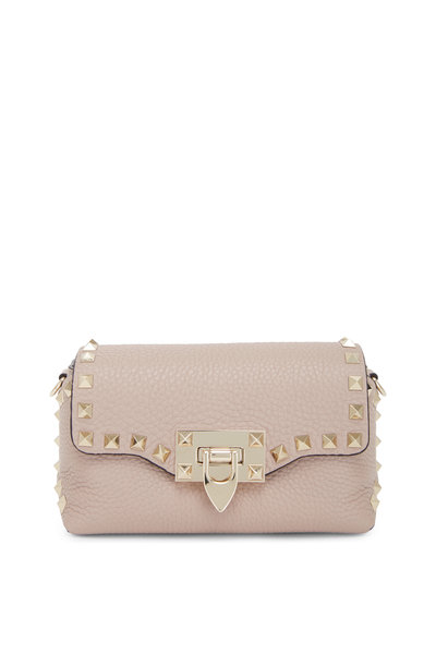 Valentino Garavani - Rockstud Poudre Pebbled Leather Mini Crossbody