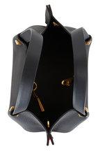 Valentino Garavani - Go Logo Escape Black & Red Leather Small Tote
