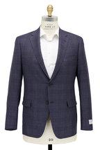 Samuelsohn - Bennet Charcoal Plaid Wool & Silk Suit