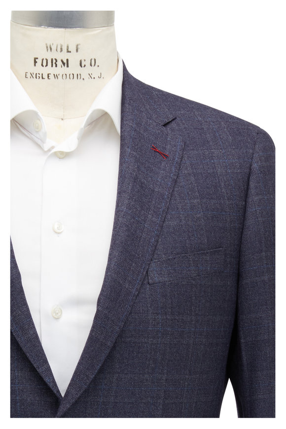Samuelsohn Bennet Charcoal Plaid Wool & Silk Suit