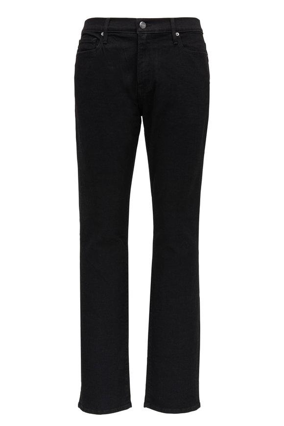 Frame L'Homme Noir Slim Fit Mid-Rise Jean