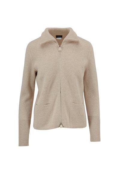 Akris - Birch Cashmere Zip Front Sweater Jacket