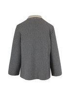 Akris - Black & Birch Houndstooth Reversible Jacket