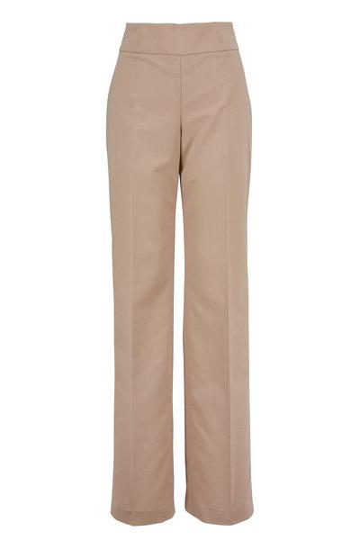 Akris - Carla Birch Cotton Side Zip Pant