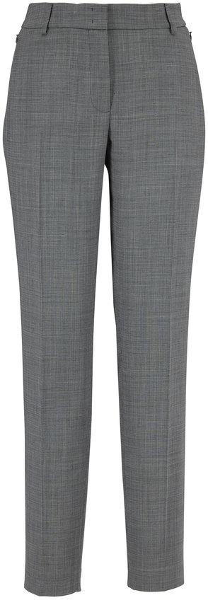 Akris Melvin Black & Swan Houndstooth Zip Pocket Pant