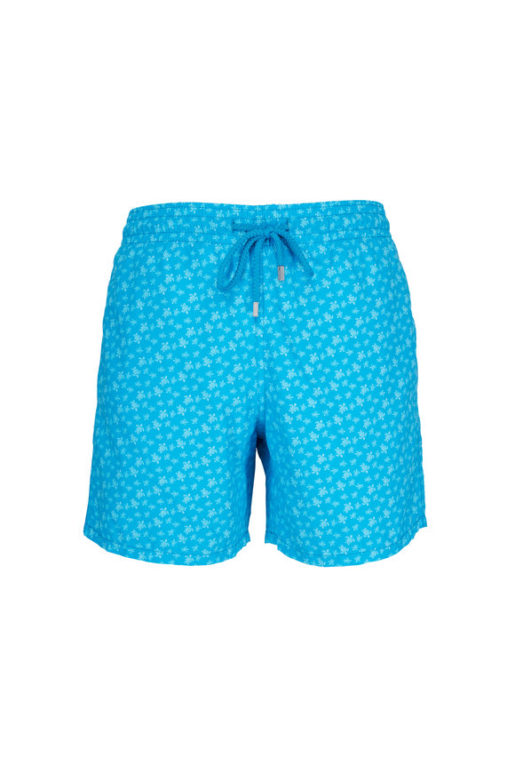 Vilebrequin Moorea Micro Turtles Blue Swim Trunks