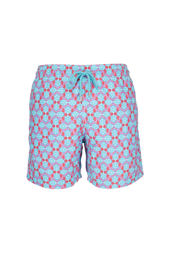 Vilebrequin Moorea Data Turtles Multicolor Swim Trunks