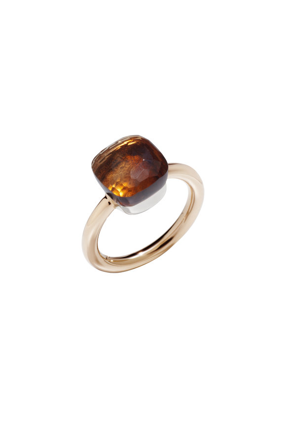 Pomellato 18K Rose Gold Nudo Citrine Ring
