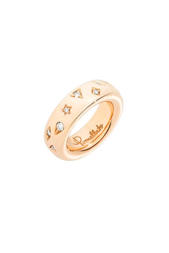 Pomellato 18K Rose Gold Iconic Diamond Maxi Ring