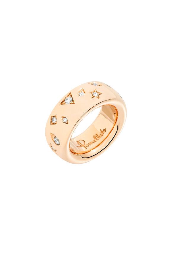 Pomellato 18K Rose Gold Iconica Diamond Medium Ring