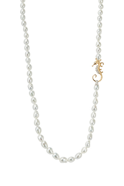 Assael - Angela Cummings Seahorse Diamond & Pearl Necklace