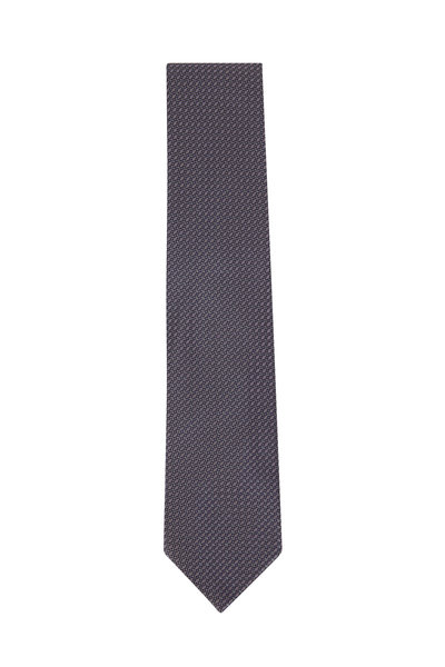 Brioni - Blue & Purple Textured Silk Necktie