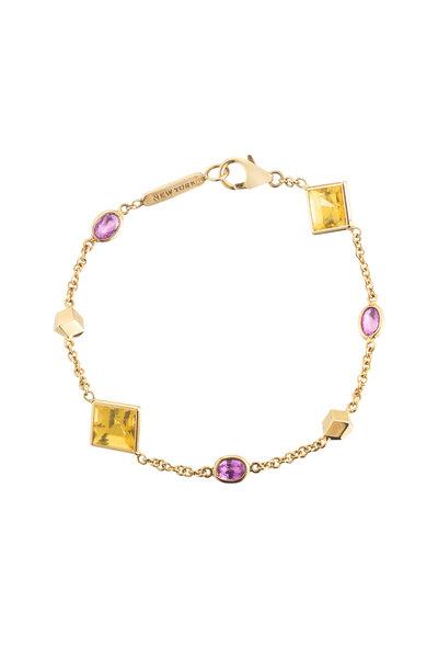 Paolo Costagli - 18K Yellow Gold Citrine Florentine Bracelet