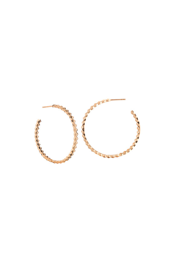 Paolo Costagli 18K Rose Gold Hoop Earrings