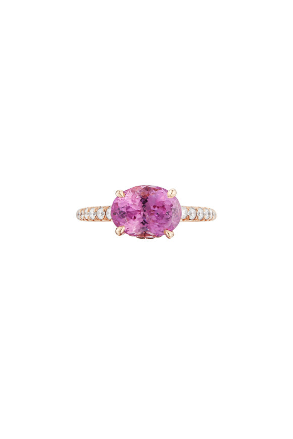 Paolo Costagli 18K Rose Gold Pink Sapphire Cocktail Ring