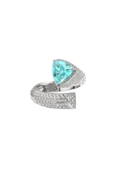Paolo Costagli - 18K White Gold Paraiba & Diamond Ring