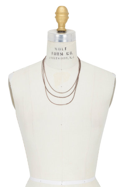 Brunello Cucinelli - Brown Hematite Wrap Convertible Necklace
