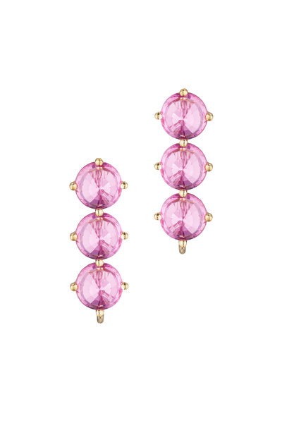 Paolo Costagli - 18K Yellow Gold Pink Sapphire Ear Toppers