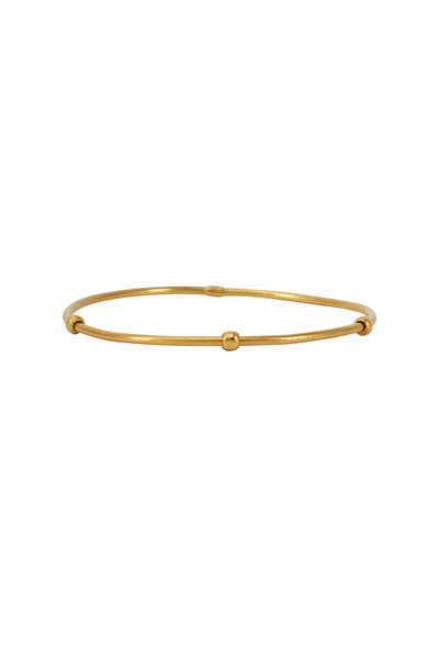 Yossi Harari - Jane Yellow Gold Round Bead Stack Bangle