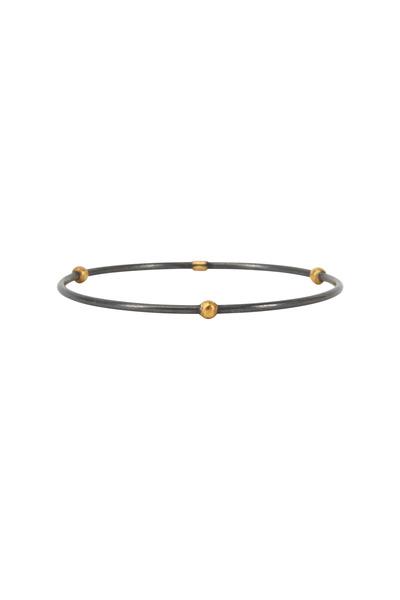 Yossi Harari - Jane Gold & Silver Round Bead Stack Bangle