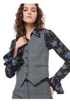 Michael Kors Collection - Cornflower Glen Plaid Four Button Vest