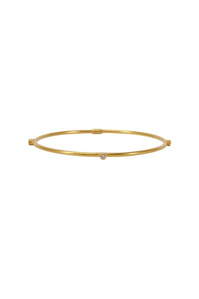 Yossi Harari - Jane Yellow Gold White Diamond Stack Bangle