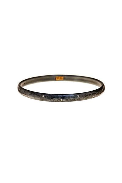 Yossi Harari - Mica Gold & Silver Diamond Bangle Bracelet