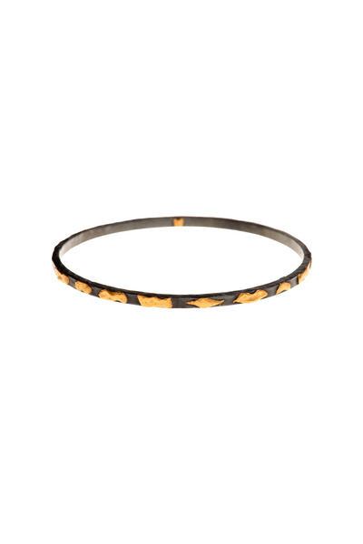 Yossi Harari - Libra Mica Gold & Silver Bangle Bracelet