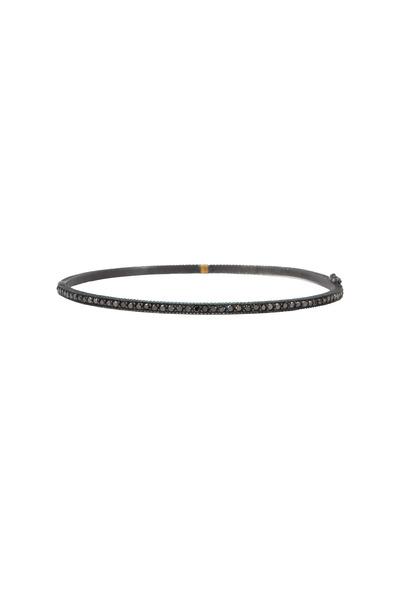 Yossi Harari - Lilah Oxidized Silver Pavé-Set Diamond Bracelet