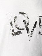 Saint Laurent - Natural Foiled Silver LOVE T-Shirt